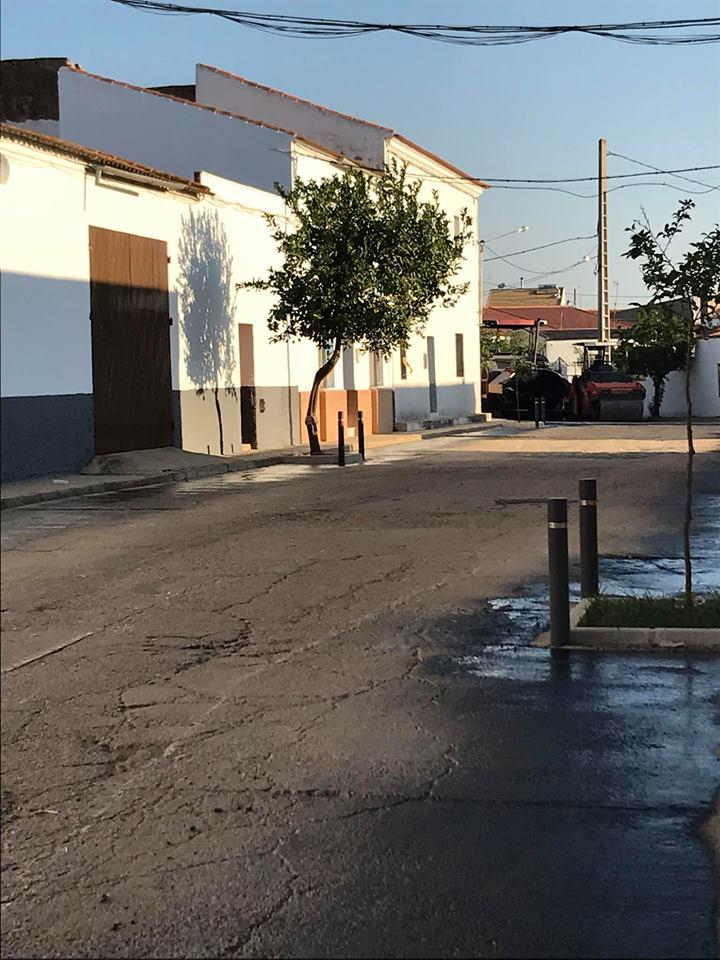 Asfaltado Calle Previo