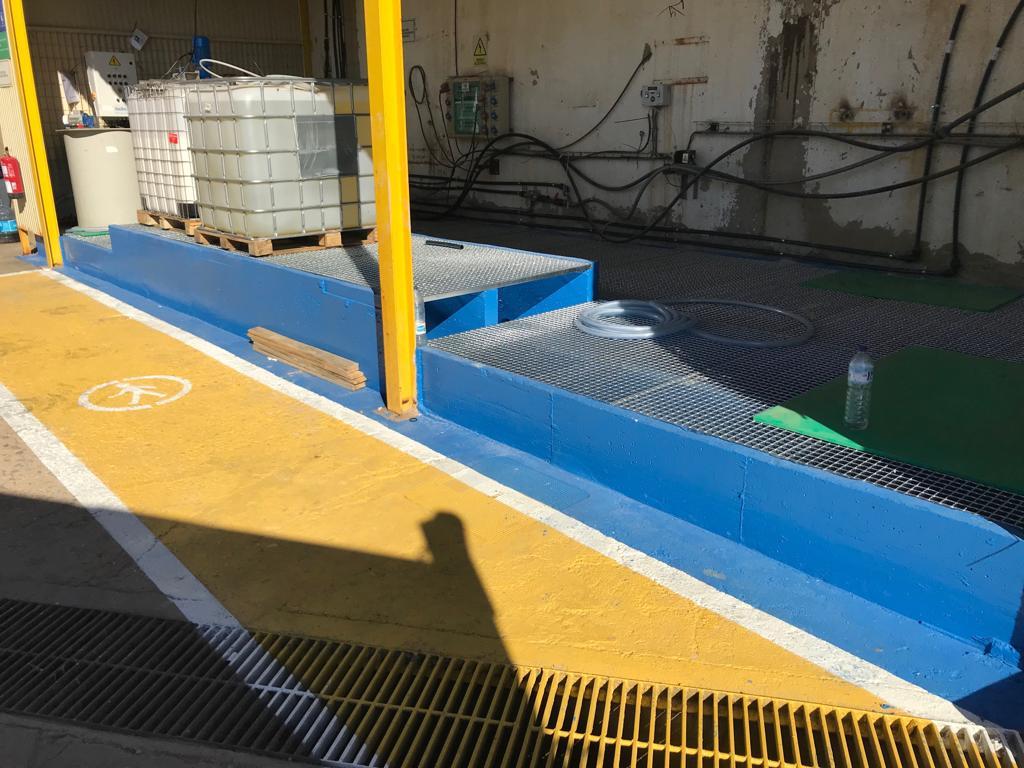 Lateral Almacen para productos químicos - Ence Huelva